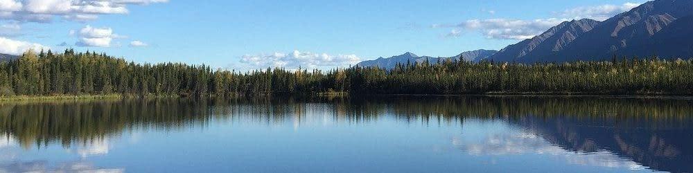 Lake landscape Yukon