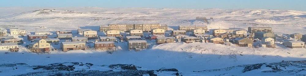 Nunavut town landscape