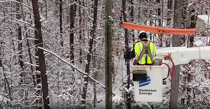 Severe Ice Storm Virginia, Dominion Energy Recovering.