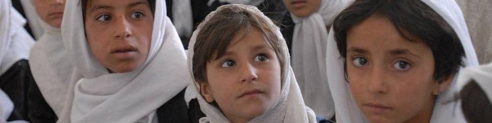 Afghan children at school
