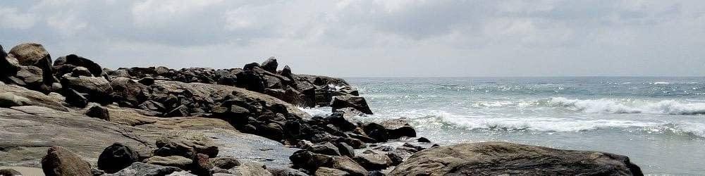 Coastline view in the Ivory Coast