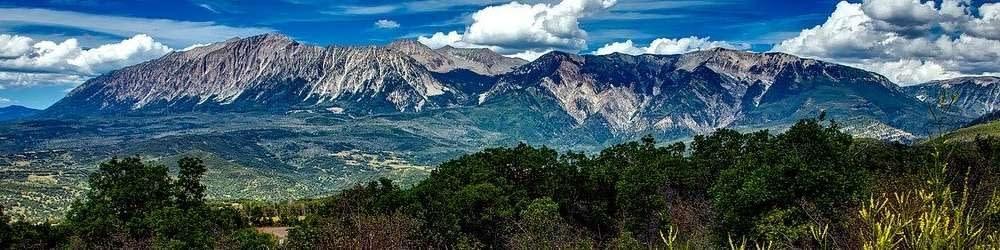 Colorado mountains in summer time