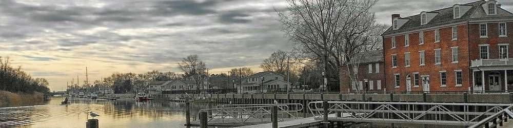 Delaware river and riverbank scene