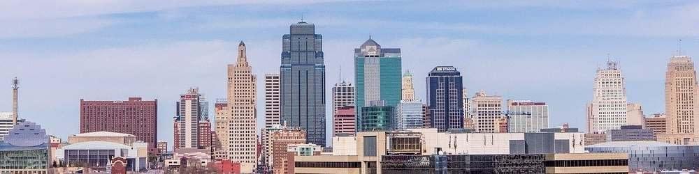 City skyline in Kansas City, Kansas