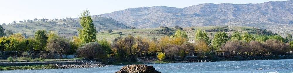 Kurdistan lake in northern Iraq