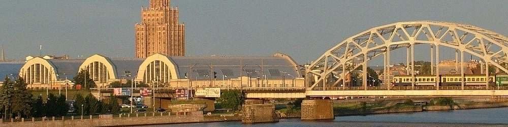 Riga Daugava bridge Latvia