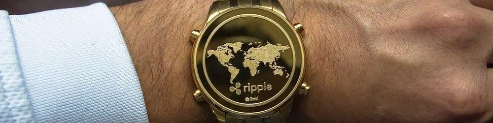 Ripple watch on mans wrist