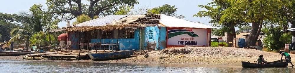 River scene in the Gambia