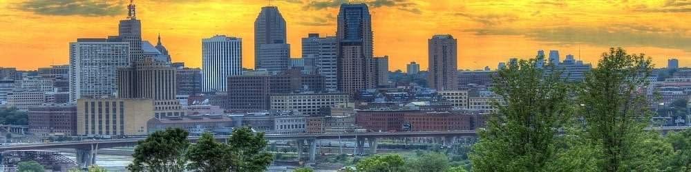 St Paul skyline at sunset