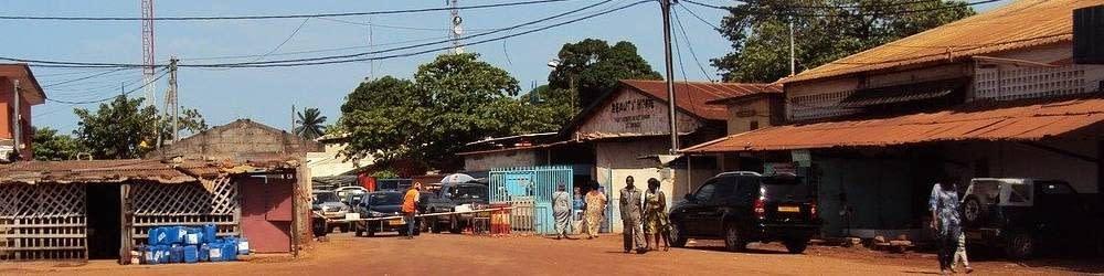 Village street scene Gabon