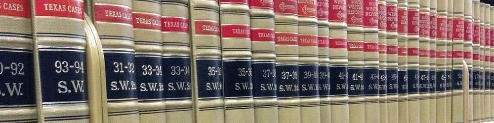 legal book on a shelf
